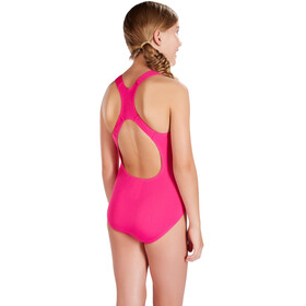 speedo Essential Endurance+ Medalist Swimsuit Girls electric pink
